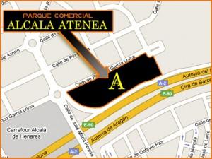 Mapa para llegar a Alcalá Atenea - Centro Comercial en Alcalá de Henares