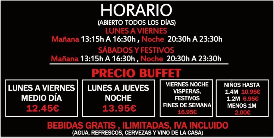 `Precios menú Wok Alcalá Atenea